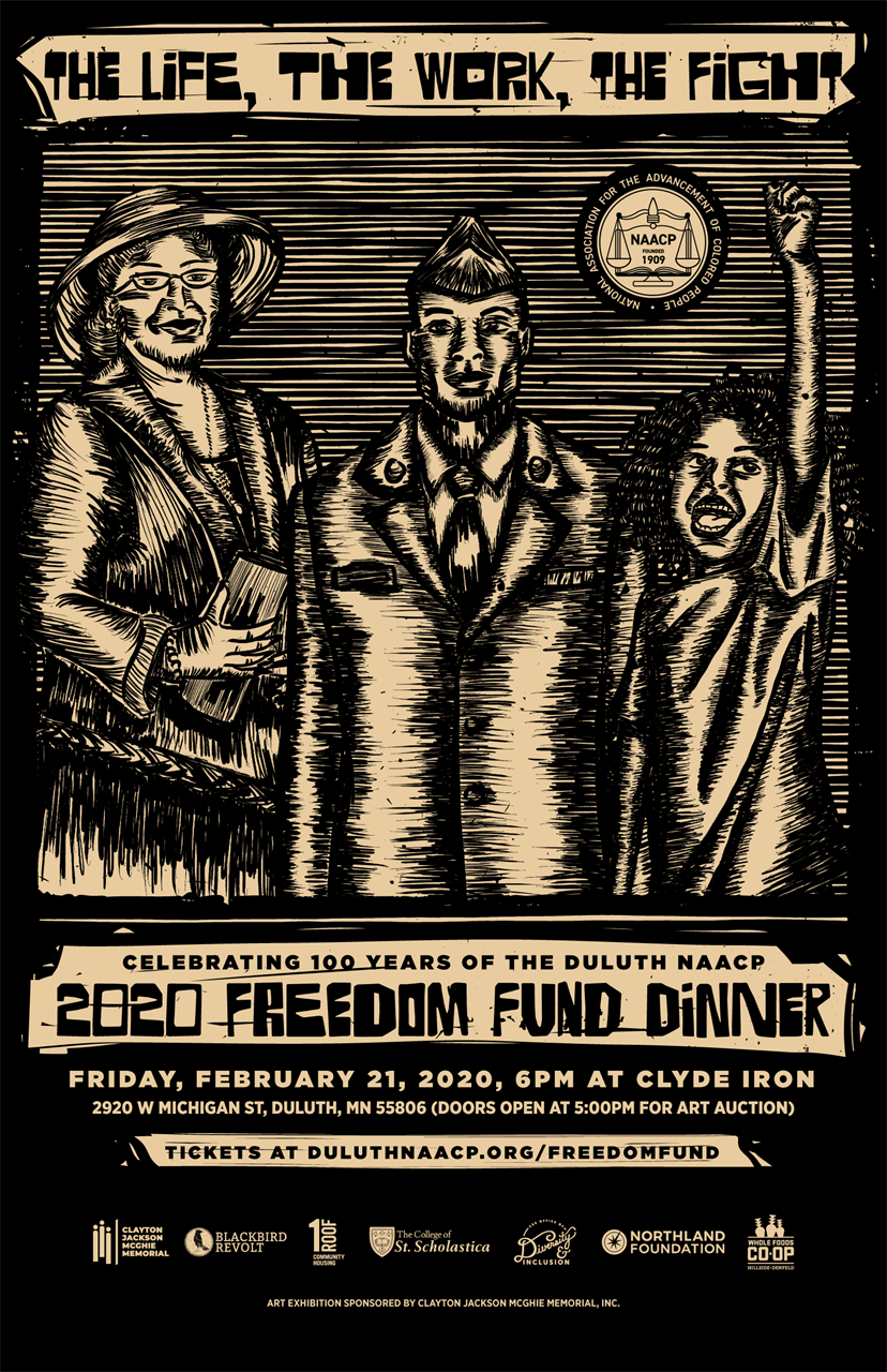 The Life, The Work, The Fight. 2020 Freedom Fund Dinner poster